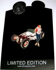 RARE LE100 Disney Pin✿Sexy Jessica Rabbit Hot Rod Classic Car Custom Convertible