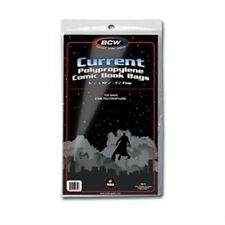 (4x) Comic Bags Current Size 100 Count Pack [NEW] Clear Poly Case Gaming BCW