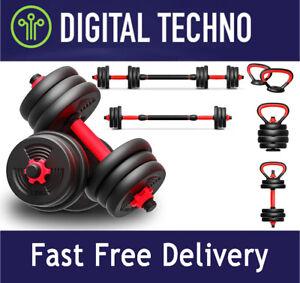 Adjustable Dumbbells Kettlebell Set 6-in-1 40KG Multi Free Weights Starter Kit