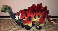 Lot of 2 Melissa & Doug Jumbo Dinosaurs Plush