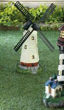 "Solar Light-Up Windmill Garden Statue ""Blades Move"" Free Shipping"