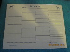 Miniature Pinscher Black Blank Pedigree Sheets Pack 10 FREE SHIPPING IN USA dog