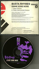 BUSTA RHYMES Gimme Some more CLEAN & INSTRUMENTAL TRX PROMO Radio DJ CD single