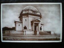 POSTCARD RP WARWICKSHIRE BIRMINGHAM - HALL OF MEMORY