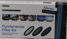 Vivitar 3 Piece Multi-Coated HD Filter Set 52mm UV CPL ND8 For Nikon 55-200mm