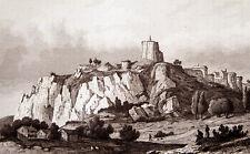 RUINEN DER MITTELALTERLICHEN BURG DOMFRONT 1838 DONJON DU CHÂTEAU DE DOMFRONT