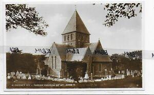 GENUINE VINTAGE POSTCARD,PARISH CHURCH OF ST ANNE'S,ALDERNEY,CHANNEL ISLES,RP