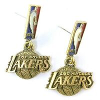 NBA Earrings Los Angeles Lakers Fancy Gold Jewelry