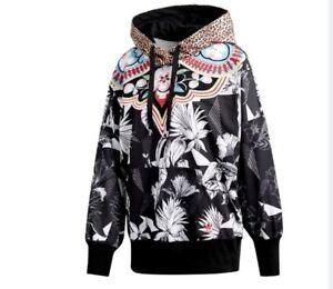 Adidas Originals Hoody Womens Jacket Floral Cheetah Medium Multi Color CW1378