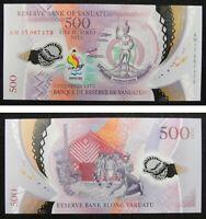 Vanuatu Commemorative Polymer Banknote 500 Vatu 2017 2019 UNC,PACIFIC MINI GAMES