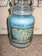 Yankee Candle SPLASH OF RAIN  Large Jar 22oz Candle SPRING Rare & Hard To Find
