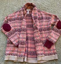 Matilda Jane Friends Forever Lilliana Fair Isle Cardigan Sweater 10