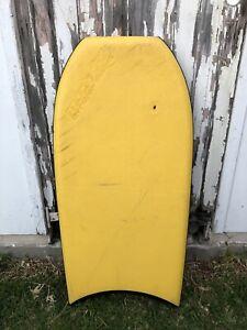 Vintage Morey Mach 7-7 Yellow Boogie Board Body Bodyboard Slick bottom Orange