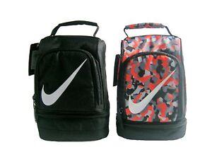 Nike Insulated Dome Lunch Box Tote School Bag Boys Girls Black Blue Orange New
