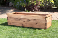 High Quality Trough Rectangle Wooden Garden Planter Extra Extra Large Plant Pot
