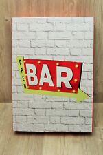 Elément décoratif déco cuisine salon Open Bar avec lumière mur - 22 x 36 cm