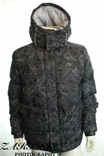 BNWT Lacoste Live BH2450 Homme Noir/Blanc Camouflage à Capuche Jaket Sz XL RRP £ 235