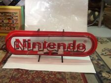 Nintendo Red Neon Vintage Authentic Sign Display With Sticker *Read Description*