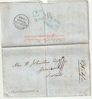 1848 DENNISTOUN & Co PRICES CURRENT USA TO GREENOCK NEW YORK FORWARDING AGENT