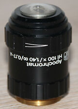 Zeiss microscope microscope objective Apochromat Hi 100x/1,40 ∞/0,17-a avec Iris