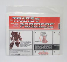 Transformers G1 SKIDS Commemorative Reissue Instructions & Stickers 2004 Hasbro
