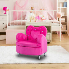 Rose Kids Sofa Armrest Chair Couch Soft Velvet Toddler Children's Furniture