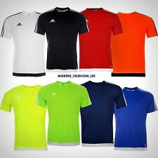 adidas Mens 3 Stripe Estro T Shirt Short Sleeved Tee Top Climalite  -- S --2XL