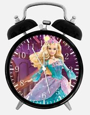 "Barbie Doll Alarm Desk Clock 3.75"" Home or Office Decor W366 Nice For Gift"