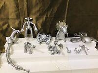 Pokemon Nintendo 10th Anniversary Silver Set 10 Figures + Weapons Lot HTF