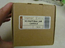 New listing 2007 Longaberger So Natural Jar Candle: Fresh ~ Mint in Box!