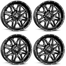 4 ATV/UTV Wheels Set 16in MSA M26 Vibe Black 4/137 0mm HP1K