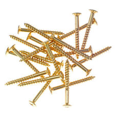30pcs New Gold Guitar NECK PLATE screws for Fender Strat Guitar replacement