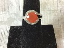 Rocks & Co Carnelian 925 Silver Ring Ring Size N September Astrological Sign