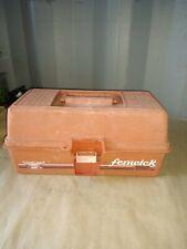 Preowned BS9 Vintage Fenwick 1050 Woodstream Fishing Tackle Box orange color