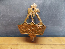 Antique cast iron match safe bronze finish grape vine design