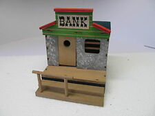 MES-40710 Älteres Hausser Wild West Haus Bank Holz,Gebrauchsspuren,ohne OVP,