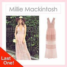 BNWT Millie Mackintosh Blush Pink Polka Dot Self Portrait style Maxi Dress 10 12