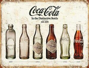 """TIN SIGN /""""Double Cola"""" Coke Bottles Beverage Vintage Mancave Decor Summer"""