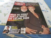 DERNIERE HEURE CELINE DION ON COVER november 1995