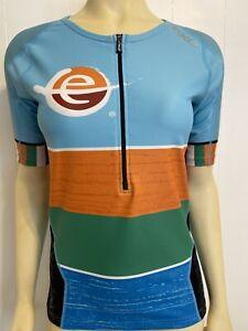 2XU Triathlon Cycling Jersey Women's Large L Top Bike Run Swim Blue Cycle