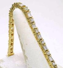 Estate 14k Yellow Gold - 5.00 carat Natural Diamond ladies Tennis Line Bracelet