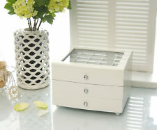 NEW LARGE WOODEN JEWELLERY BOX IN GLOSS FINISH - WHITE 175W 3.0k