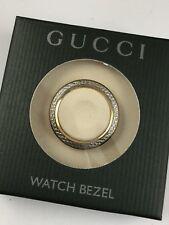 Authentic GUCCI 1100L 1200L Gold Diamond Cut METAL WATCH Bezel
