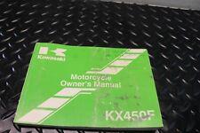 2012 Kawasaki Kx450F Owner's Manual Book 16060-1079 Oem Kx 450F (Fits: Kawasaki)