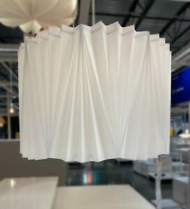 """Ikea KUNGSHULT Lamp Shade Large Floor/Pendant/Table, Pleated White 17"""" - NEW"""