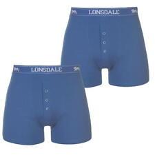 MENS ELECTRIC BLUE 2 PACK LONSDALE BOXER SHORTS UNDERWEAR  S M L XL XXL XXXL