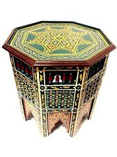 XL Moroccan Octagonal Moucharabieh Handpainted Table Design Furniture End Table
