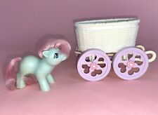 Vintage My Little Pony G1 Baby Cuddles Pony & Buggy Carriage 1985 Hasbro 80s Toy