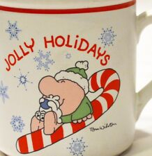 "One of 4 - Ziggy Christmas Mug - ""Jolly Holidays"" - Vintage Tom Wilson"