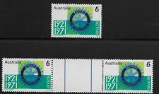 Australia Scott #498, Single & Gutter Pair 1971 Complete Set FVF MNH
